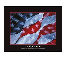 Freedom Flag College Dorm Room Poster red, white, and blue American freedom flag dorm room decor poster