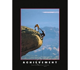 Achievement Poster | Rock Climber Overcoming Obstacles