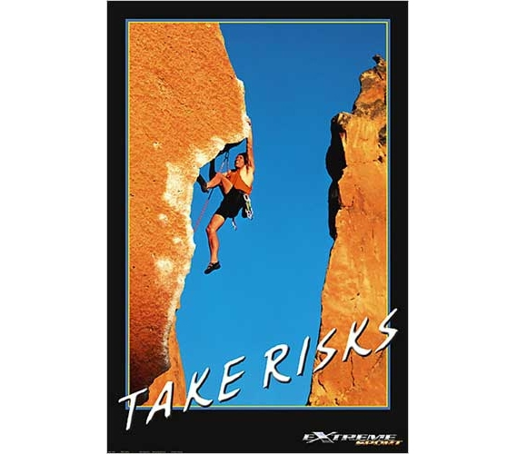 Mountain Climbing Take Risks Poster Posters For College