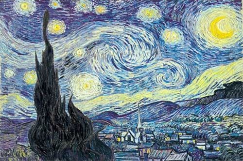 Starry Night Nuit Etoilee Very Artsy Painting Of A