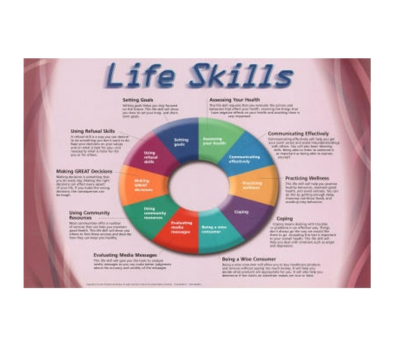Useful Life Skills Educational Chart - College Dorm Poster Art