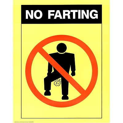 No Farting College Student Humor Poster Wall Decor Idea