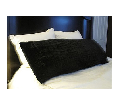 College Plush Body Pillow Black Dorm Room Bedding