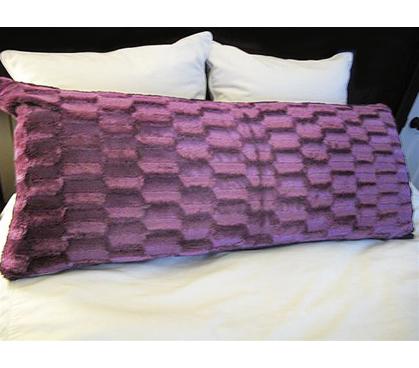 College Plush Body Pillow Purple College Dorm Bedding