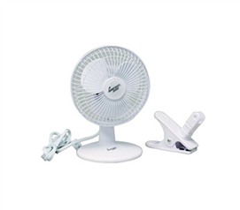 "6"" Desktop Fan (2-in-1 Desk/Clip Fan) Cute Dorm Fan"