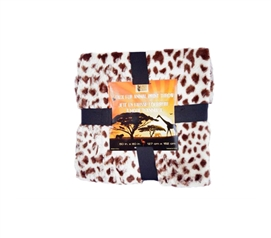 Great For Naps - Faux Fur Animal Throw - Giraffe - Cool Animal Print