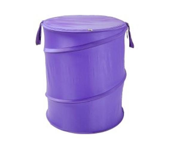 Purple Bongo Durable Dorm Laundry Hamper Cool Color