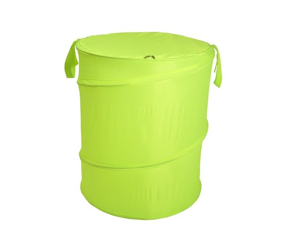 Lime Green Bongo Durable Dorm Laundry Hamper Durable