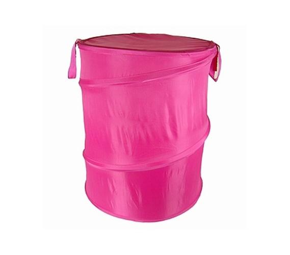 Hot Pink Bongo Durable Dorm Laundry Hamper Dorm