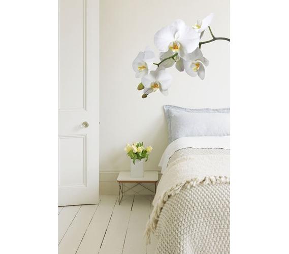 white orchid flower wall art peel n stick don 39 t let. Black Bedroom Furniture Sets. Home Design Ideas