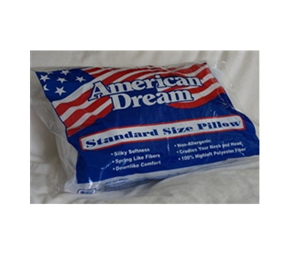 quality american made dream pillow standard bedding size. Black Bedroom Furniture Sets. Home Design Ideas