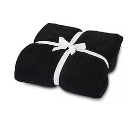 Dorm Bedding Essentials - Black Cozy Fleece - College Supplies