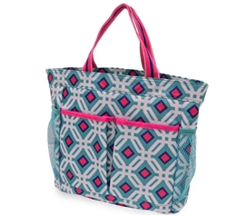 College Bathroom Tote - Ocean Graphic Caddy