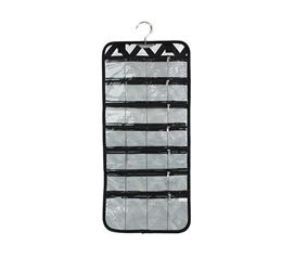 Dorm Accessories - Compact Jewelry Folding Organizer - Black And White - Closet Organizer