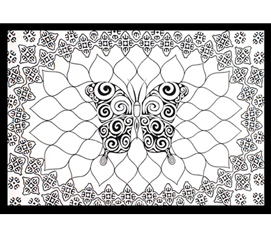 B & W Butterfly Tapestry College room decor