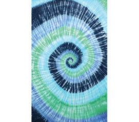 Cool And Colorful - Blue Spiral Tie-dye Tapestry - Add To Wall Decor