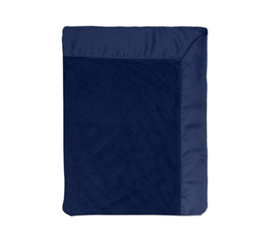 Coral Bed Blanket with Satin Border Midnight Blue Cool college bedding