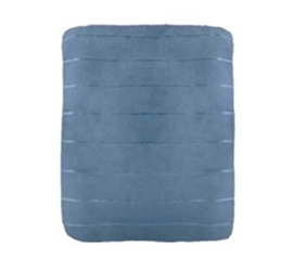 Super Soft Striped Coral Blanket - Blue College Dorm Room Bedding Supplies