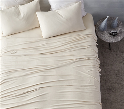 Bare Bottom Sheets All Season Twin Xl Bedding Almond