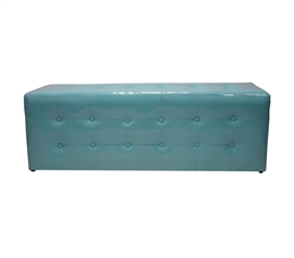Dorm Decorations - Benchy McBenches - Extra Long Ottoman Seat - Aqua