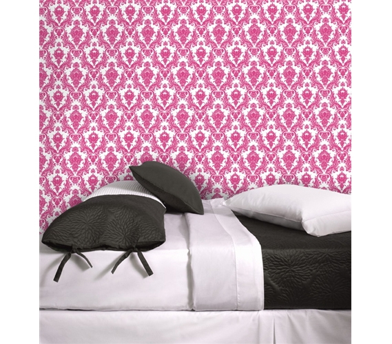 Damsel Fuchsia Amp White Tempaper Removable Wallpaper Cute