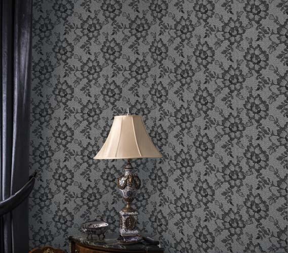 dorm essentials lace textured smokey black designer