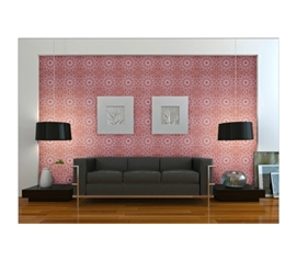 Easily Removable - Berry Medallion Designer Removable Wallpaper - College Decorations For Girls