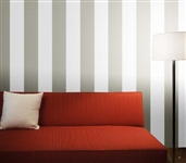 Add Cheap Dorm Decorations - Stripe Dove Gray Designer Removable Wallpaper - Decorate Your Dorm