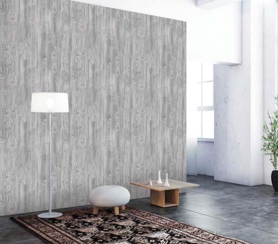 Woodgrain Textured Pewter Designer Removable Dorm Room