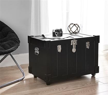 Bolt Trunks Black Extra Roomy College Footlocker Dorm
