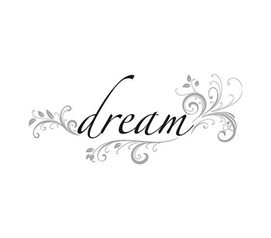 Bedding Accessories - Dream Quote Wall Decor - Peel N Stick