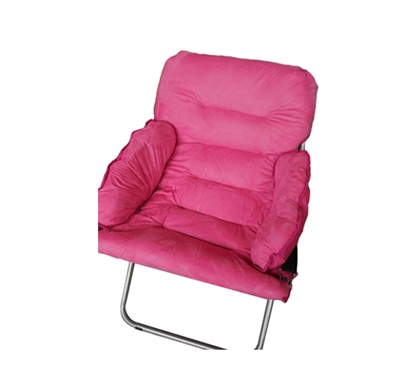 Comfortable Room Seating - College Club Dorm Chair - Plush & Extra Tall - Pink
