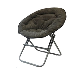 Dorm Seating - Comfy Corduroy Moon Chair - Sage Gray - College Accessories