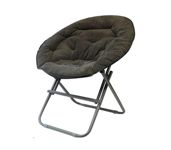 Dorm seating comfy corduroy moon chair sage gray for Grey comfy chair