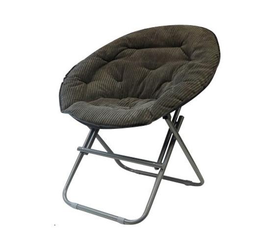 Dorm Seating Comfy Corduroy Moon Chair Sage Gray