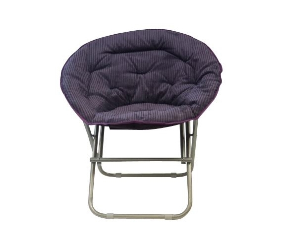 Dorm Essentials fy Corduroy Moon Chair Uptown Purple Dorm Seating