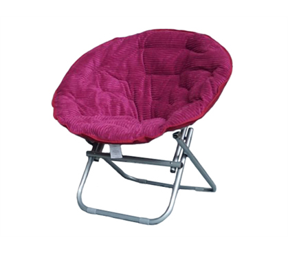 Show Off A Hint Of Your Personality - Comfy Corduroy Moon Chair - Raspberry