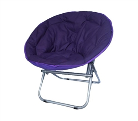 Comfort Padded Moon Chair - Downtown Purple - Adds To Dorm Room Decor