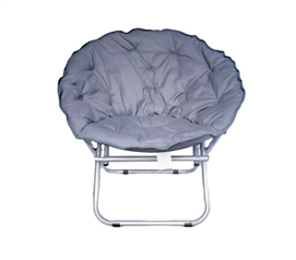 Space-Saving Chair - Comfort Padded Moon Chair - Gray - Add Dorm Seating For Comfort