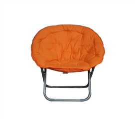 Dorm Room Furniture - Comfort Padded Moon Chair - Orange