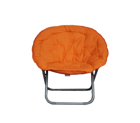 Dorm Room Furniture fort Padded Moon Chair Orange
