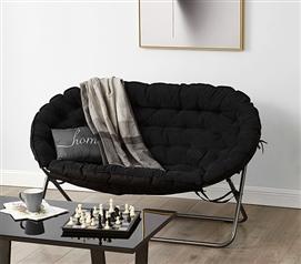 papasan dorm sofa black beanbags sphere chairs furniture dorm