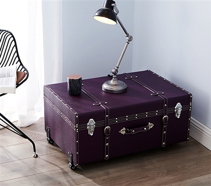 The sorority college dorm trunk downtown purple dorm - Dorm underbed storage ideas ...