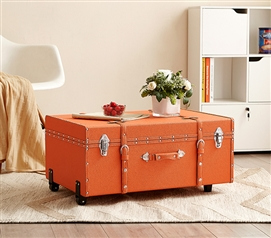 Dorm Storage Essential - The Sorority College Dorm Trunk - Orange