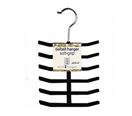 College Closet Organizer -Soft Grip Tie/Belt Hangers