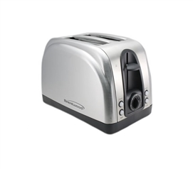 Wide Slot Stainless Steel 2-Slice Toaster - Great For Dorm Breakfast
