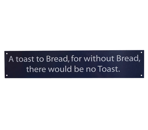 A Toast To Toast Funny Tin Sign Dorm Room Decorations