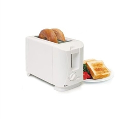 Convenient Cooking - Traditional White 2-Slice Toaster - Great For Breakfast
