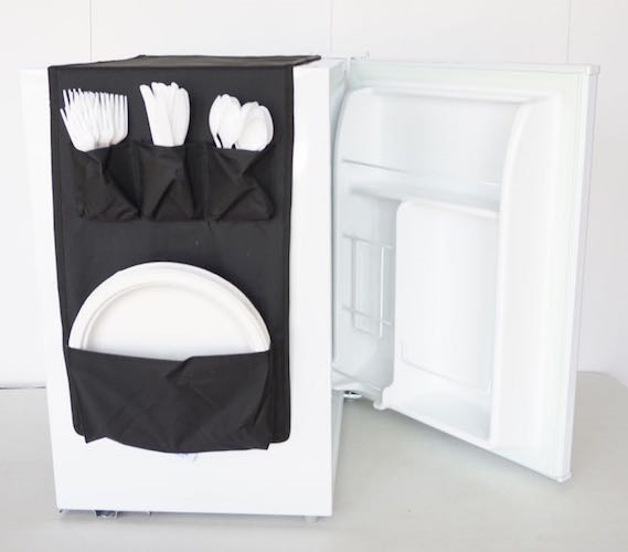 cookin caddy over the fridge storage organizer dorm