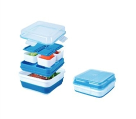 Dorm Kitchen Supplies - Collapsible Bento Box - College Container Set